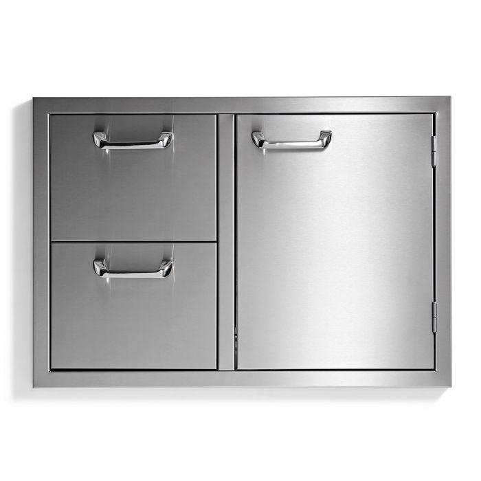Sedona By Lynx Sedona Series Storage Door & Double Drawer Combo, 30-Inch