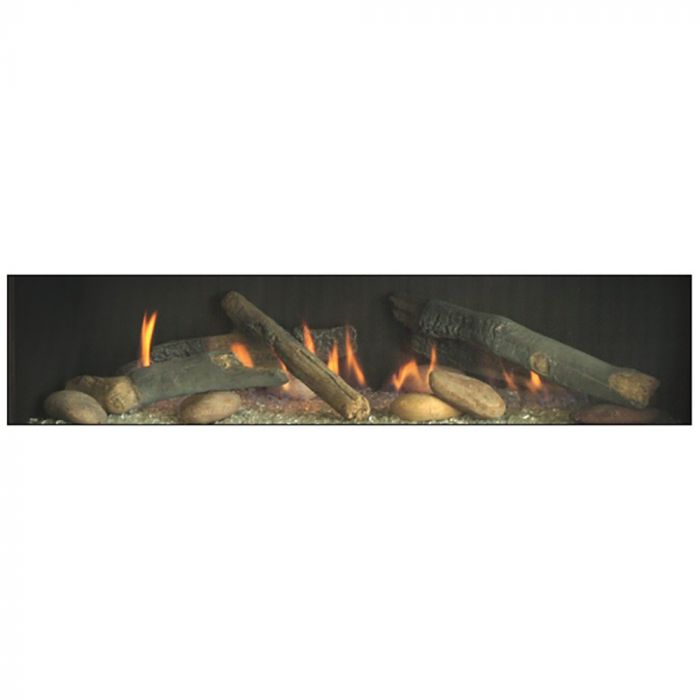 White Mountain Hearth LSM1THF Rustic Log and River Rock Accessory Kit for Boulevard 36-Inch Direct Vent Linear Fireplace