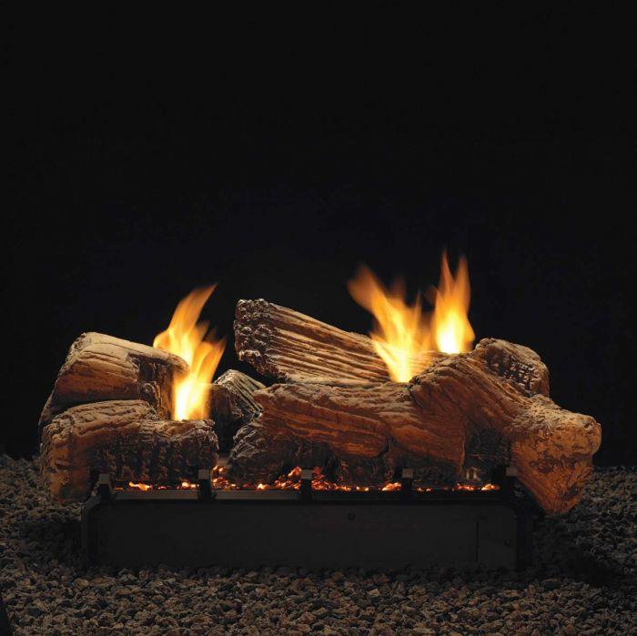 White Mountain Hearth LSUxxSF-Kit Ceramic Fiber Stone River Complete Fireplace Log Set