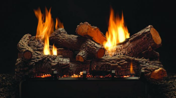 White Mountain Hearth LSUxxSF Ceramic Fiber Stone River Double Sided Gas Logs Only