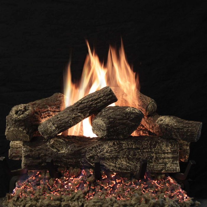 White Mountain Hearth LTH7xxST-Kit Tree House 7 Refractory Double Sided Complete Fireplace Log Set