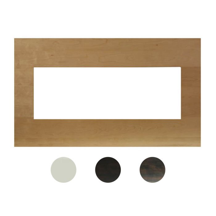 Amantii MAN-BM Birch Wood Mantel-Surround for Panorama Series Extra Slim 40-Inch Electric Fireplace