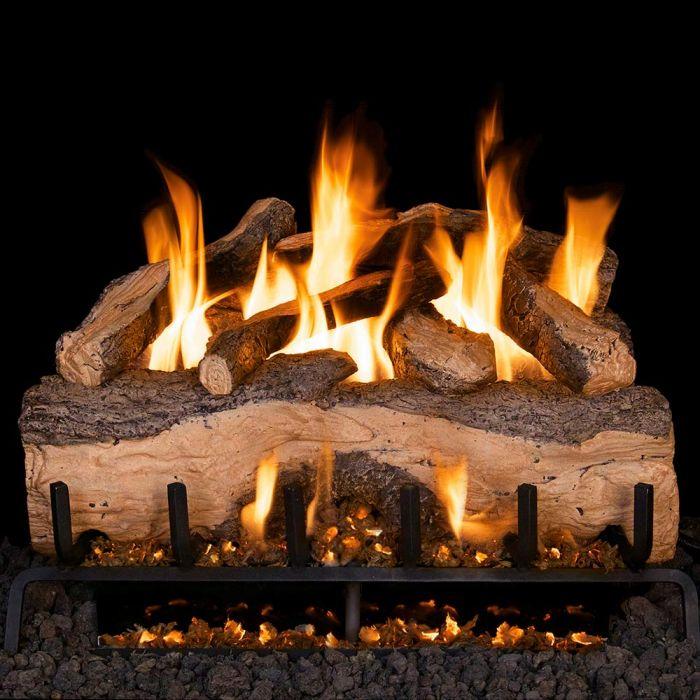 Real Fyre MCS Mountain Crest Split Oak Vented Gas Log Set