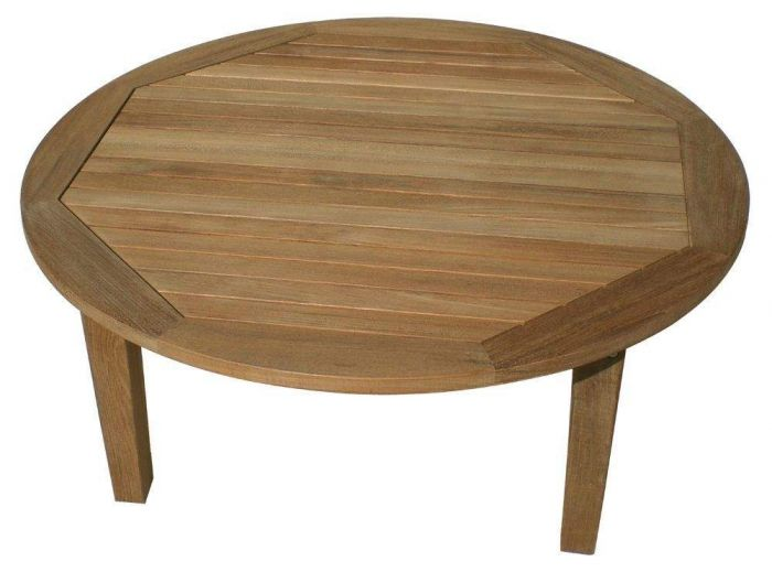 Royal Teak Collection MIAT42R Miami Round Teak Table, 42x17-Inch