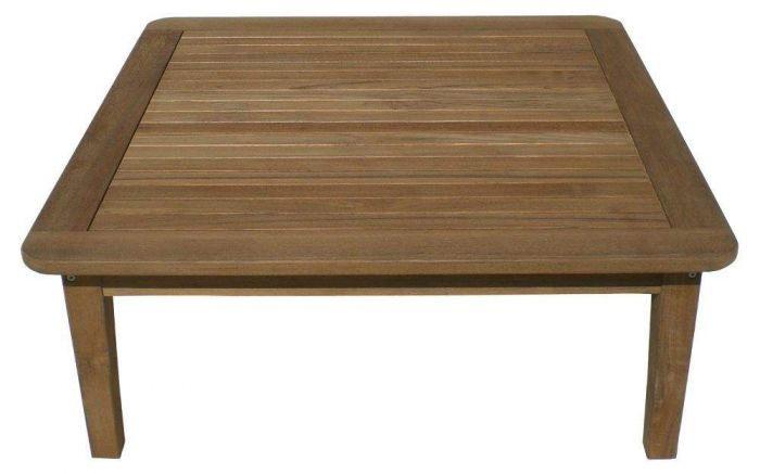 Royal Teak Collection MIAT42S Miami Square Teak Table, 42x17-Inch