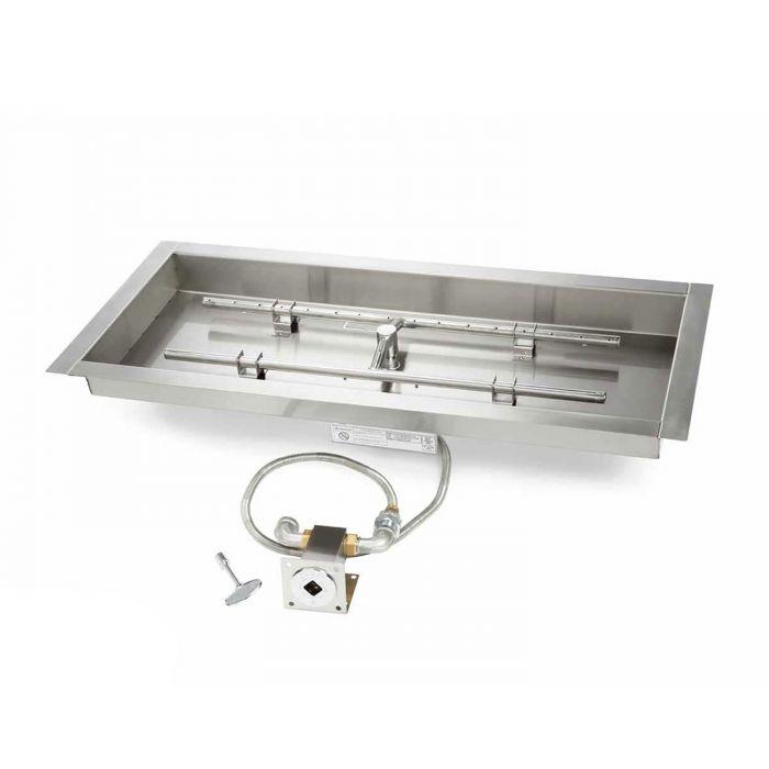 Hearth Products Controls MLFPK Match Light Gas Fire Pit Kit, Rectangular Bowl Pan