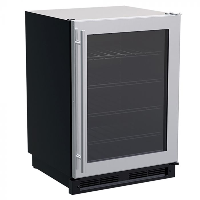 Stainless Steel Outdoor Refrigerator Freezer, 24-Inch