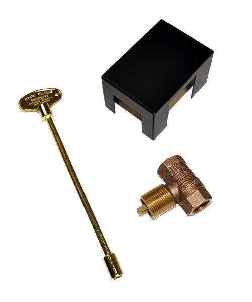 HPC MS8B Straight Manual Control Valve with 8-Inch Brass Key