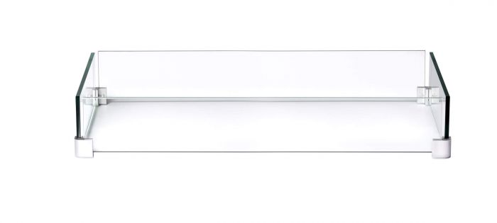 Napoleon Glass Wind Screen for MADR1 Fire Table, 33.5 x 17.5-inches