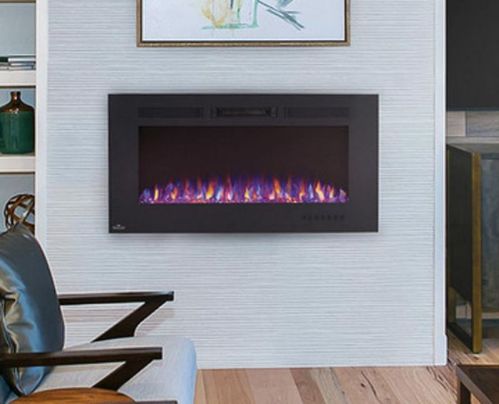 Napoleon NEFL100FH Allure Series Linear Slimline Wall Mount/Built-In Electric Fireplace, 100 Inch