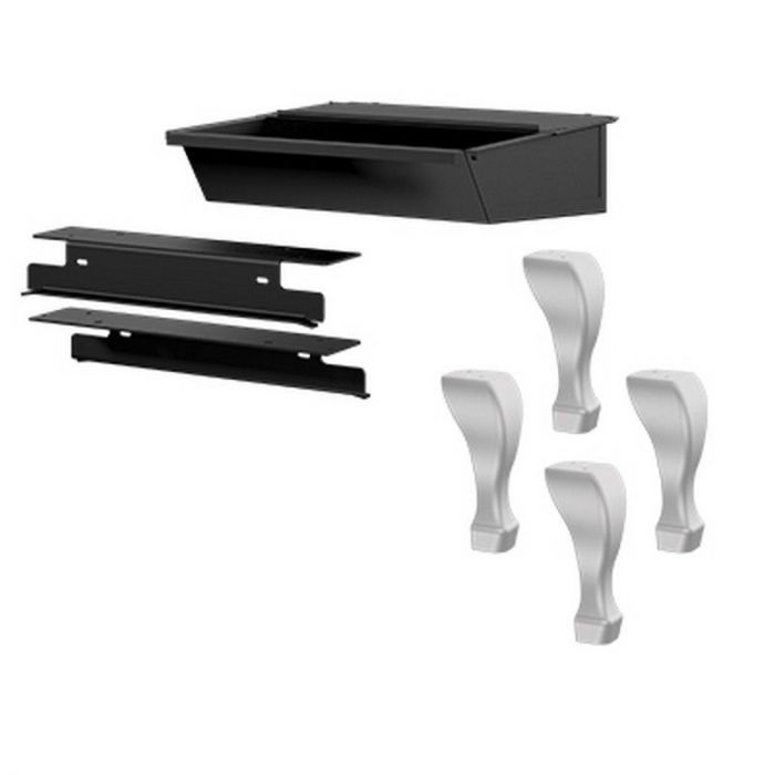 Osburn OA10228 Brushed Nickel Cast Iron Traditional Leg Kit with Ash Drawer for Osburn 2000 Wood Stove