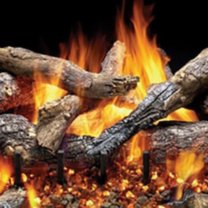 Majestic OGO324 Fireside Grand Oak Outdoor 3-Tier 24-Inch Vented Gas Log Set