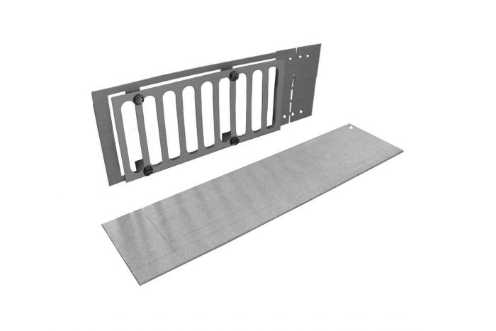 Firegear PAVER-VENT-4-LNTS Paver Vent Kit with Mounting Plate and Lintel, 3.625x8-inches