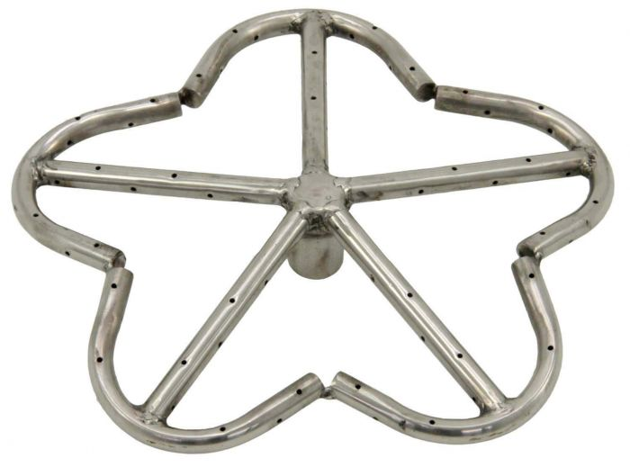 Hearth Products Controls Penta Stainless Steel Fire Pit Burner, 12-Inch, Natural Gas