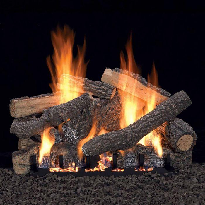 White Mountain Hearth LSxxPV-Kit Ponderosa Vented Refractory Complete Fireplace Log Set