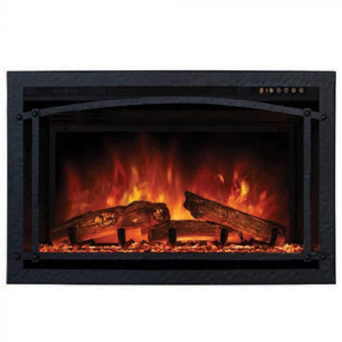 Modern Flames PTO-ZCR2-BLK Hammered Black Premium Magnetic Trim Overlay for ZCR2 Electric Fireplace Insert