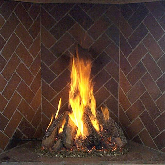 Rasmussen RF-Kit Retiring Tipi Series Complete Fireplace Log Set for Rumford Fireplaces