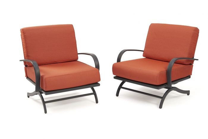 The Outdoor GreatRoom Company CFP42-RCH Chat Rocking Chairs, Set of 2