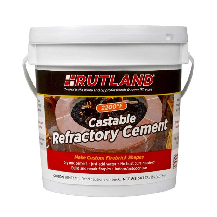 Rutland RD-600 Castable Refractory Cement, 12.5 LB Tub