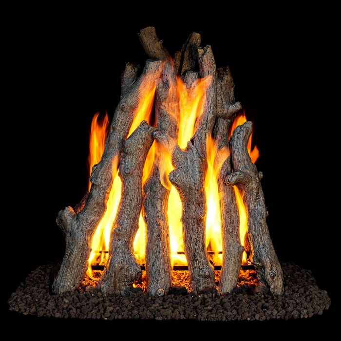 Real Fyre RUA Rumford Style Rural Aged Oak Vented Gas Logs