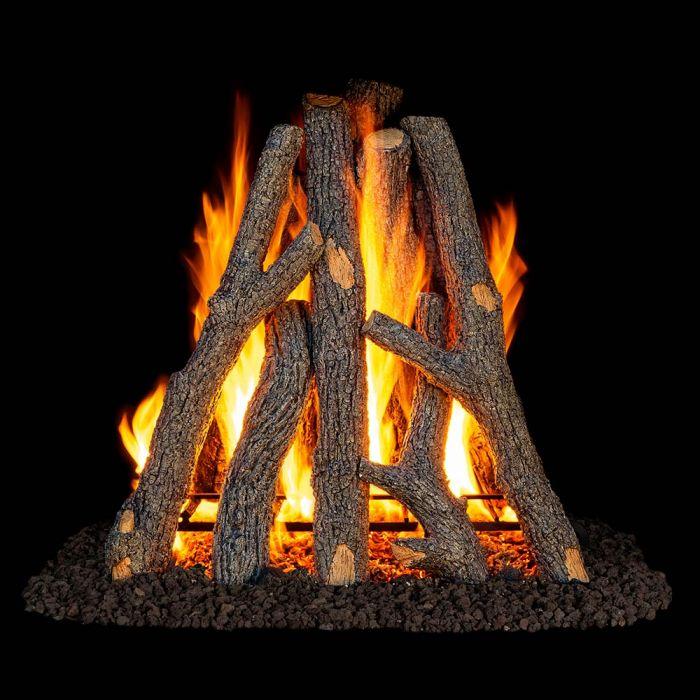Real Fyre RUO Rumford Style Rural Oak Vented Gas Logs