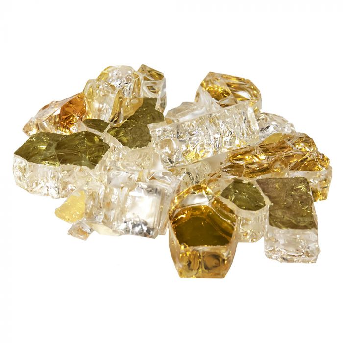 Grand Canyon RFG-10-AG 1/2-Inch Amber Gold Reflective Fire Glass, 10-Pounds