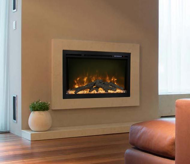 Modern Flames SL74-B Spectrum Series Built-In Electric Fireplace, 74-Inch