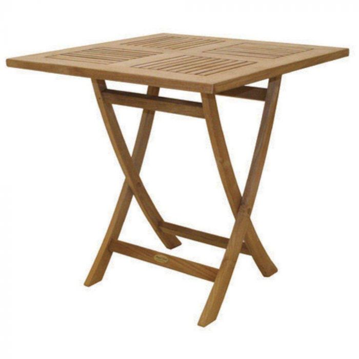 Royal Teak Collection SFS30 Square Sailor Teak Folding Table, 30x30-Inch