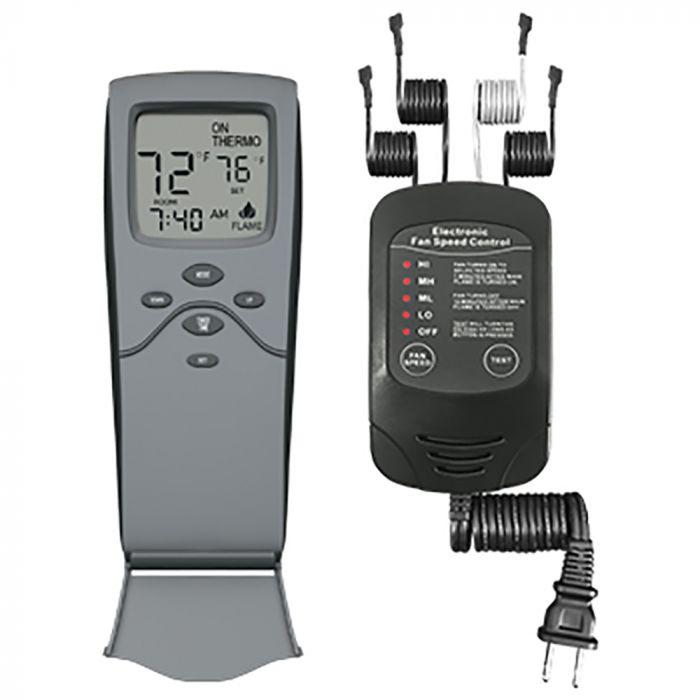 Skytech SKY-3301-FSCRF Timer/Thermostat Fireplace & Electronic Fan Speed Remote Control
