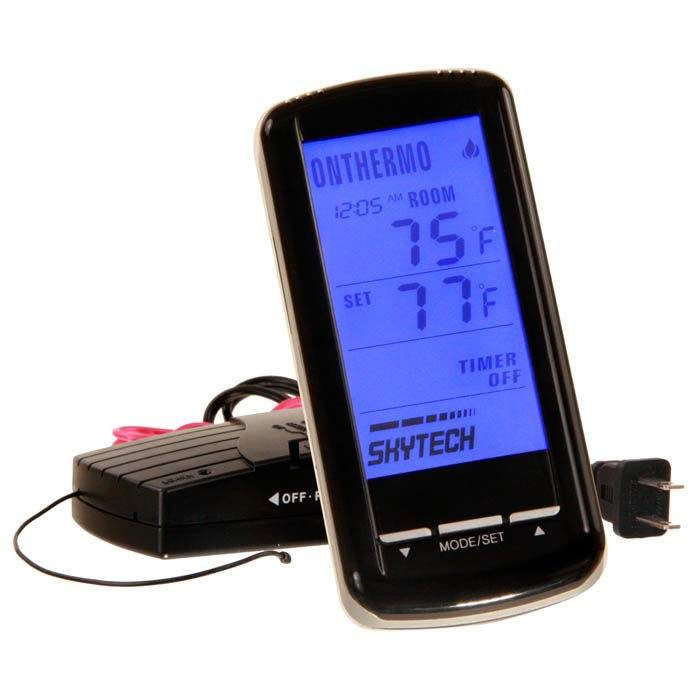 Skytech 5310 Timer/Thermostat Fireplace Remote Control with Backlit Touch Screen