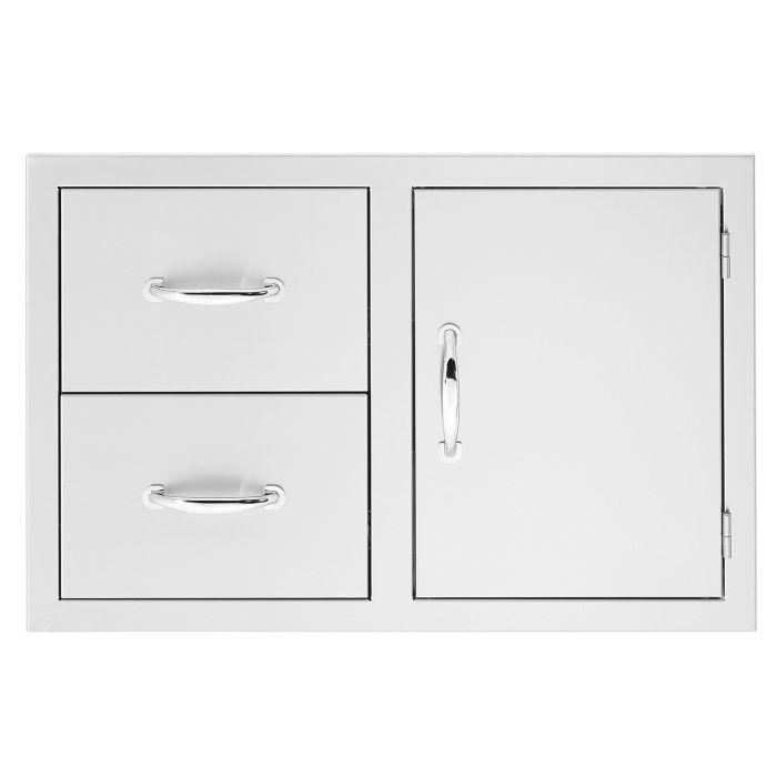 Summerset SSDC2-33 Door 2-Drawer Combo, 30.25x19.25-Inch