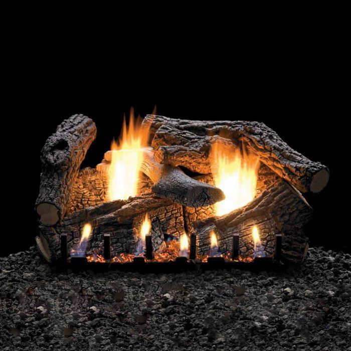 White Mountain Hearth LSxxRSSV-Kit Super Sassafrass Vented Refractory Complete Fireplace Log Set