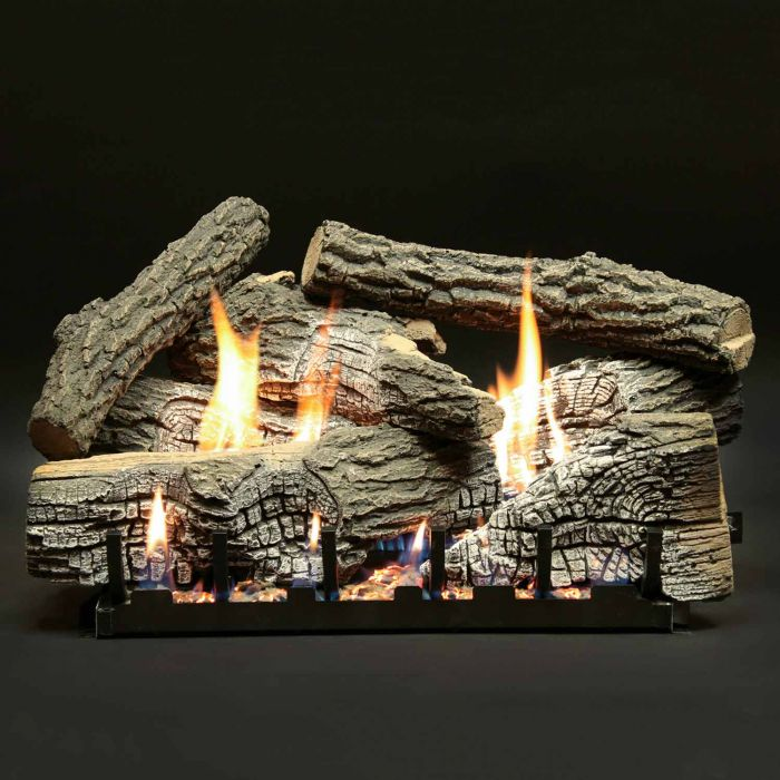 White Mountain Hearth LSxxWRSV-Kit Super Stacked Wildwood Vented Refractory Complete Fireplace Log Set
