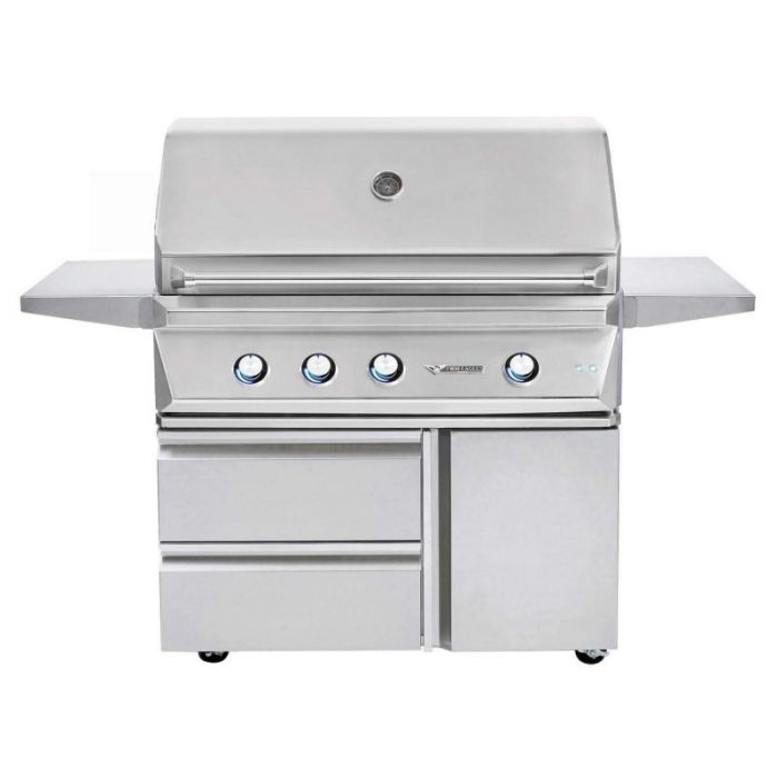 Twin Eagles 42 Inch Gas Grill On Cart With Drawers And Door