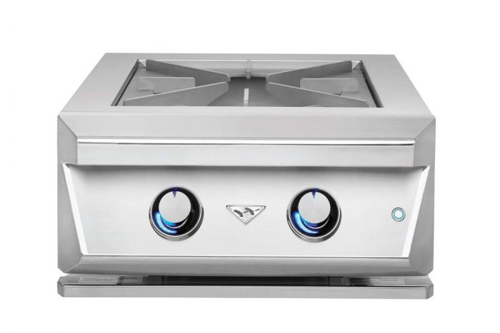 Twin Eagles 24 Inch Built-In Gas Power Burner With Heavy Duty Grates