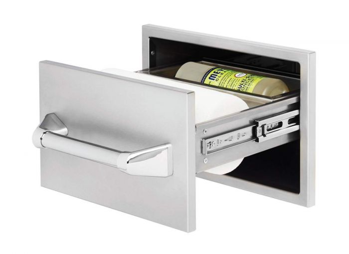 Twin Eagles 15 Inch Paper Towel Holder w/ Towel Bar And Compartment