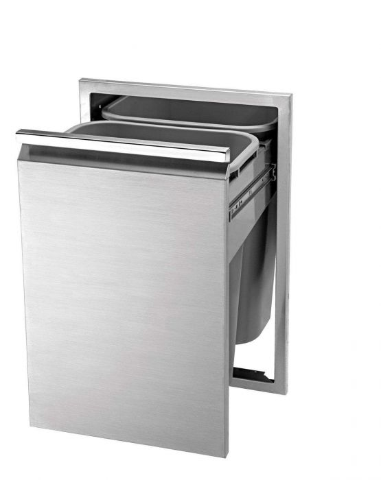 Twin Eagles 18 Inch Double Tall Trash Drawer, (2 Trash Cans Included)