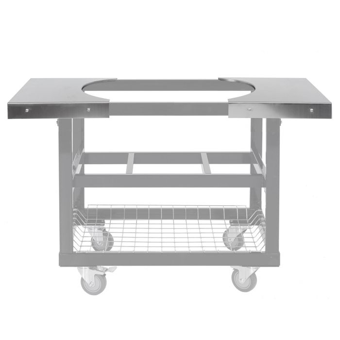 (2) Stainless Steel Side Tables for Oval LG 300 and  XL 400 Cart Ghosted