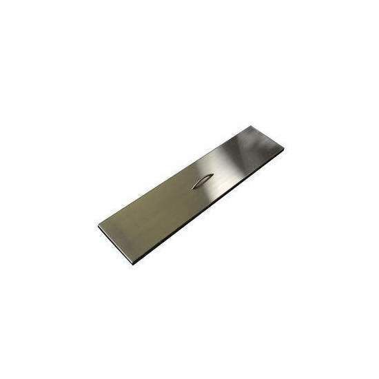 Hearth Products Controls Rectangular Stainless Steel Fire Pit Cover, 28x9.5 Inch