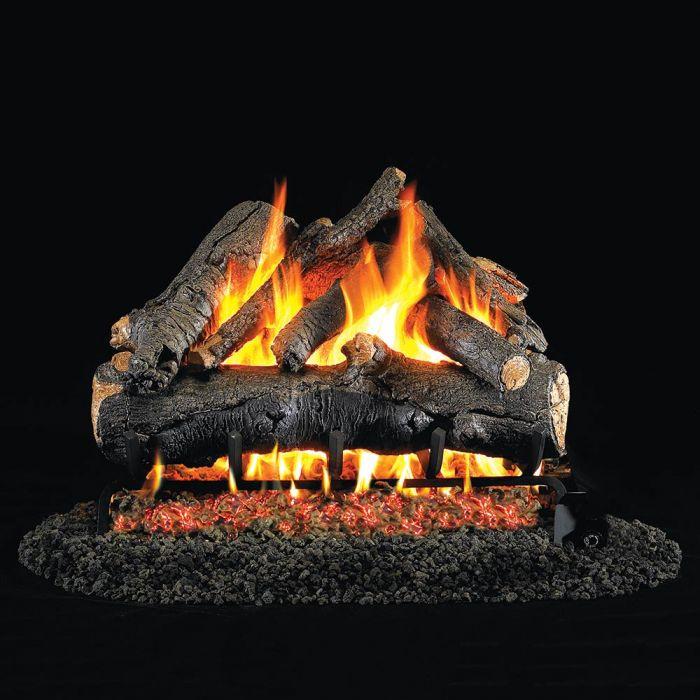 Real Fyre AO American Oak Stainless Steel Vented Gas Log Set, ANSI Certified