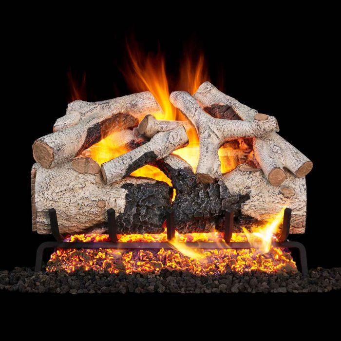 Real Fyre BTA Burnt Aspen Vented Gas Log Set, Stainless Steel, ANSI Certified