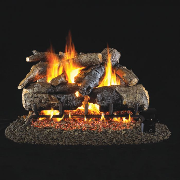 Real Fyre CHAO Charred American Oak Stainless Steel Vented Gas Log Set, ANSI Certified