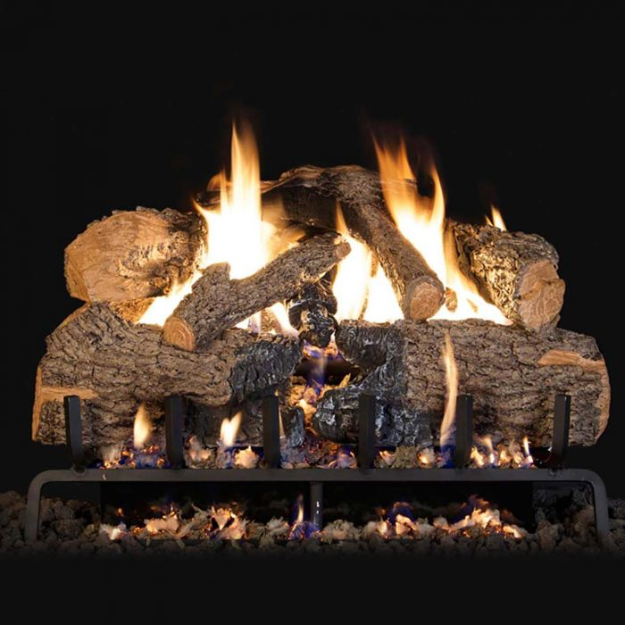 Real Fyre Charred Angel Oak Gas Log Set