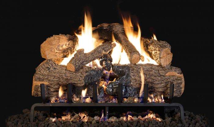 Real Fyre CHNA Charred Angel Oak Vented Gas Log Set