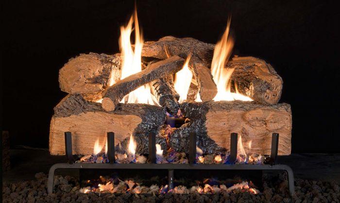 Real Fyre CHNS Charred Angel Split Oak Vented Gas Log Set