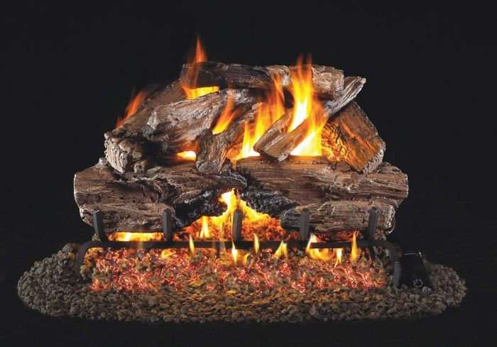 Real Fyre CHCR Charred Cedar Vented Gas Log Set