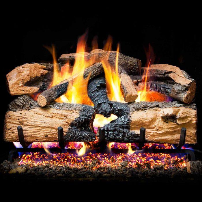 Real Fyre ENS Charred Evergreen Split Oak Vented Gas Logs