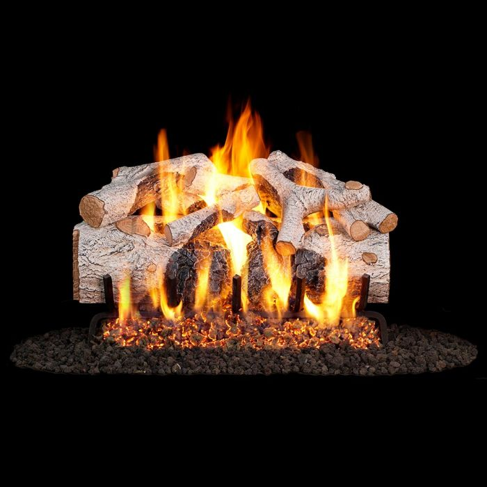 Real Fyre Charred Mountain Birch Gas Log Set