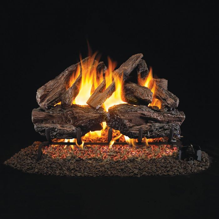 Real Fyre CHRED Charred Red Oak Stainless Steel Vented Gas Log Set, ANSI Certified