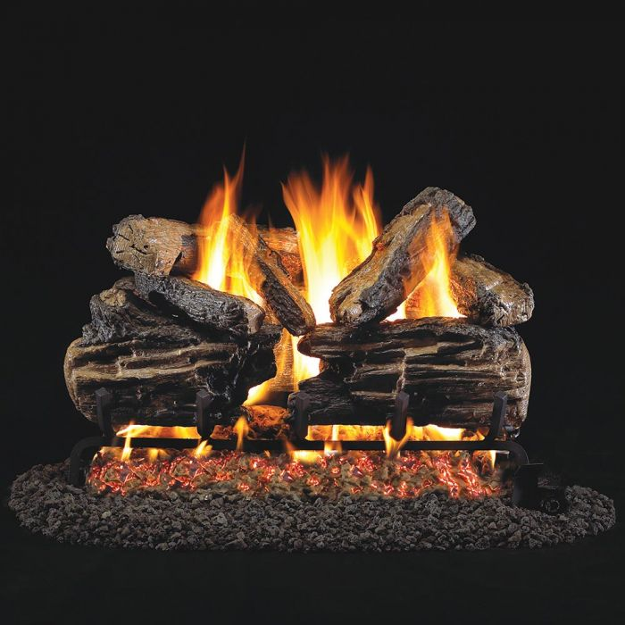 Real Fyre Charred Split Oak Vented Gas Log Set, ANSI Certified